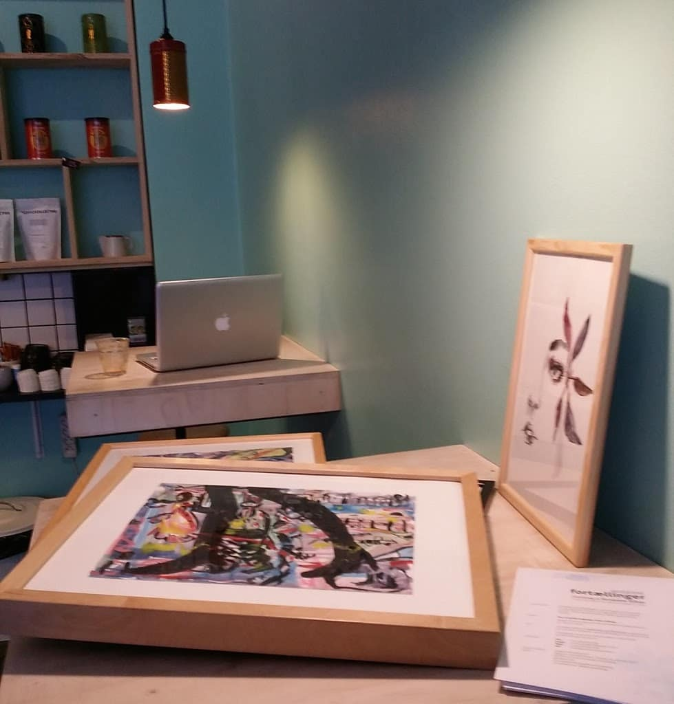 udstilling cafè - kunst / art