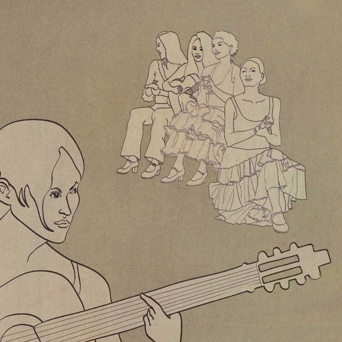 Gallery, flamenco, illustration, illustrations