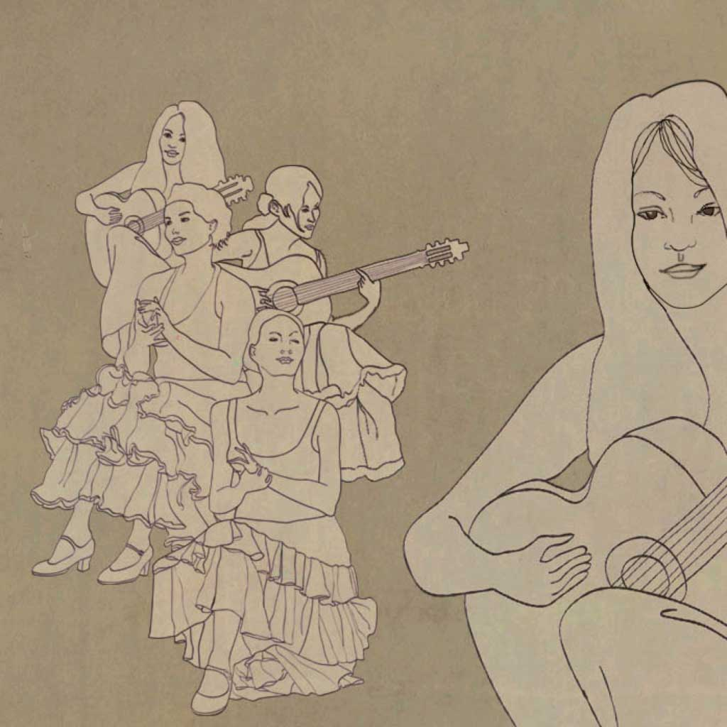 Gallery, flamenco, illustration, illustrations