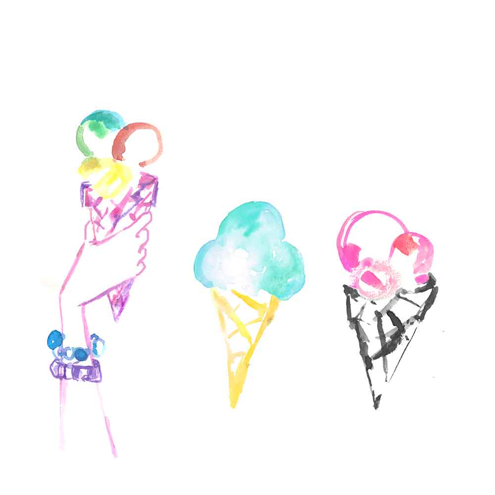 ice cream food illustration
