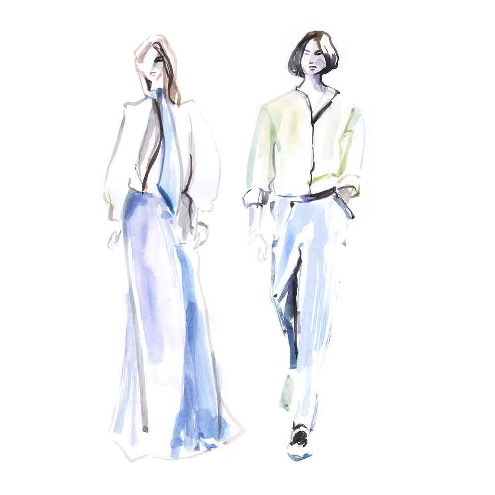 fashion illustration lanvin luxury