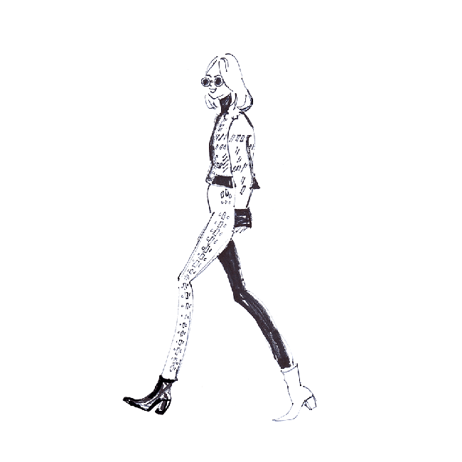 balmain fashion illustration catwalk