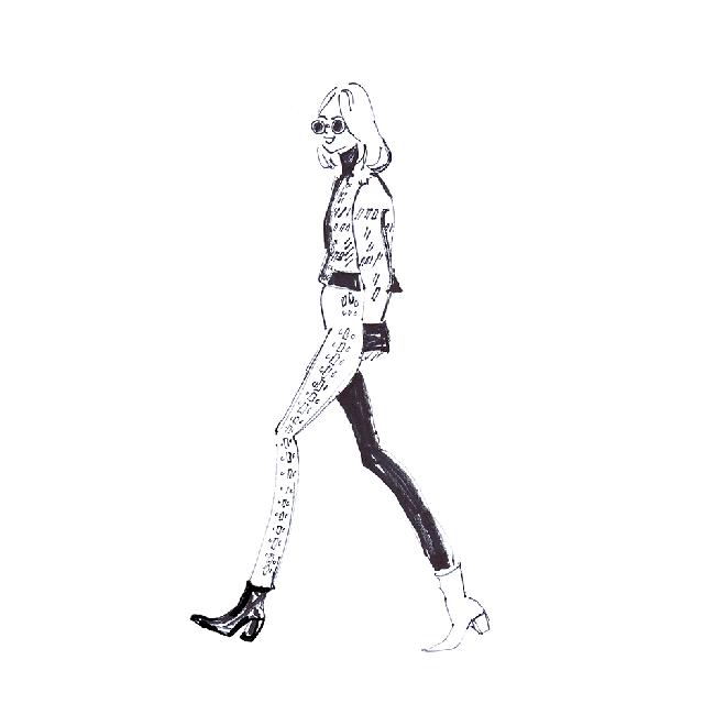 balmain fashion illustration catwalk