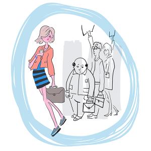commute lifestyle illustration