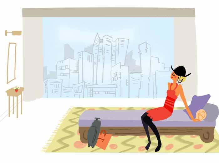 travel illustration singapore asia luxury