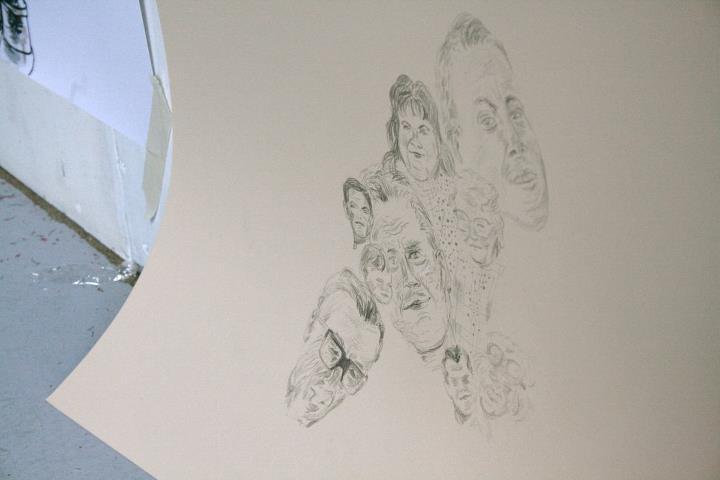 gruppe udstilling tegning